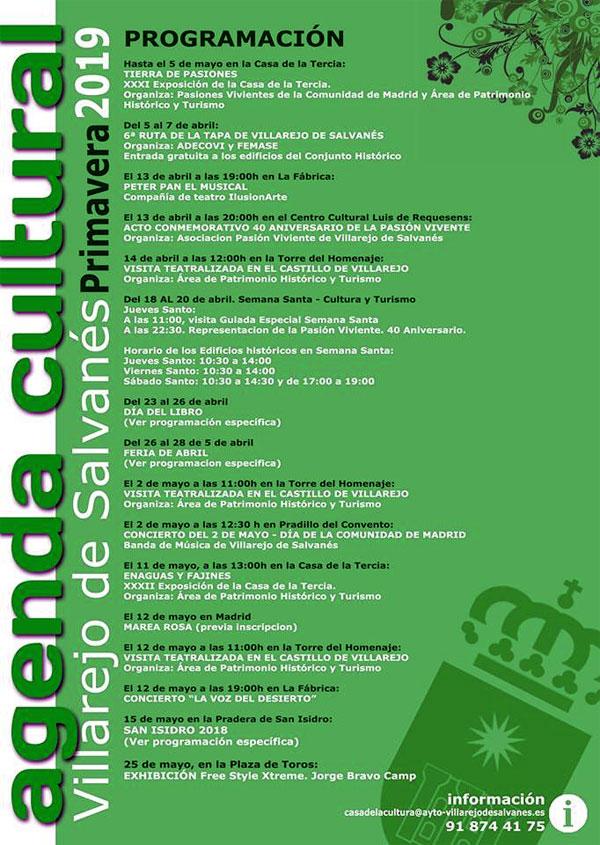 Agenda Cultural Primavera 2019